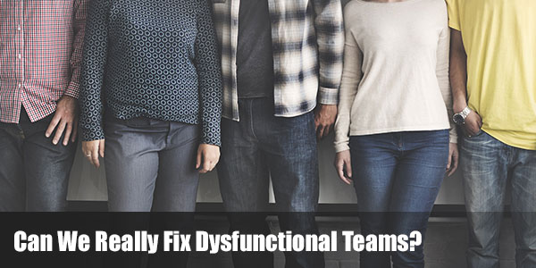 Can We Really Fix Dysfunctional Teams?